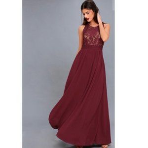Lulu's Forever and Always Lace Maxi dress Gown